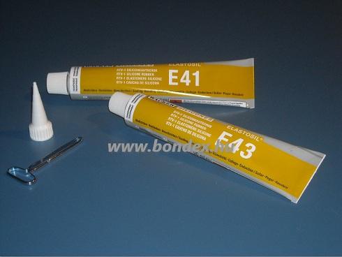 E41 és E43 típusú szilikon ragasztók